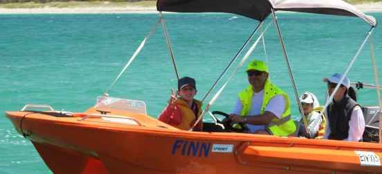 family boat finn catamaran